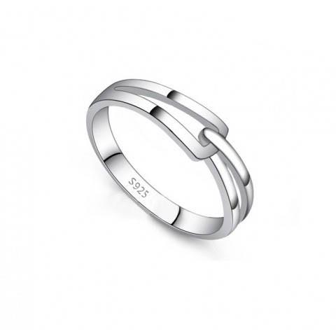 Nhẫn bạc móc nối Nữ-size M