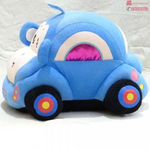 Ô tô bông mini- xanh