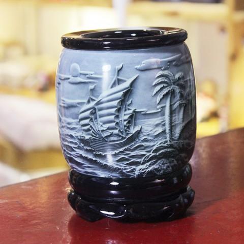 Ống đựng bút nghệ thuật - Thuận buồm xuôi gió