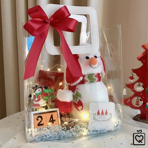 Quà Giáng Sinh LuvGift Snowman - Túi quà trong suốt Luv54