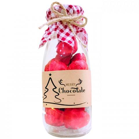 Socola Hạnh Nhân Merry Chocolate - Lọ Giáng Sinh 15 viên