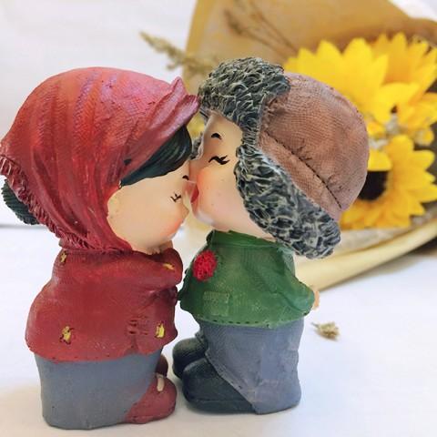 Quà tặng Valentine Hoa hướng dương đèn led & Tượng tỏ tình