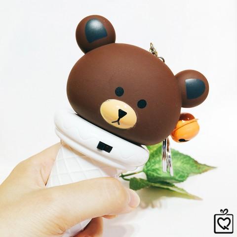 Quạt phun sương mini cầm tay gấu Brown