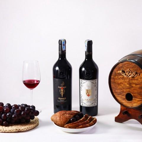 Rượu vang Ý Romeo Negroamaro  - Kèm hộp rượu gỗ đơn