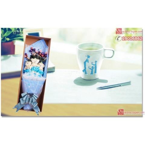 set-hoa-gau-bong-3-gau-vay-xanh-luxury (1)