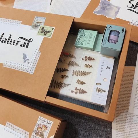 Quà tặng LuvGift set trang trí sổ Bullet Journal Natural Luv99