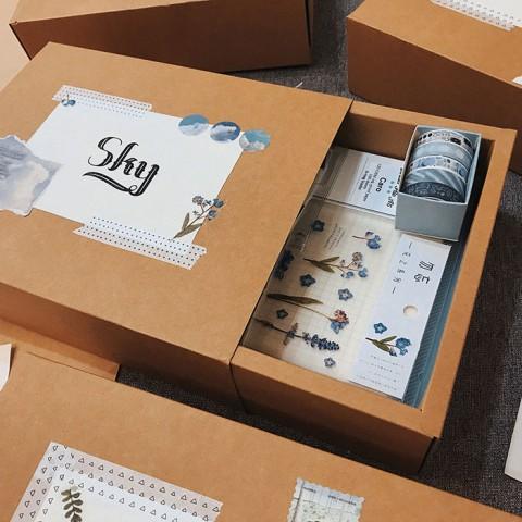 Quà tặng LuvGift set trang trí sổ Bullet Journal Sky Luv102
