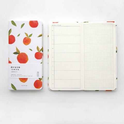 Sổ tay bìa cứng hoạ tiết hoa quả kiểu Nhật Bản - 100 trang