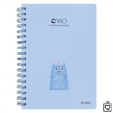Sổ lò xo kép Caro hình mèo dễ thương B5-200trang