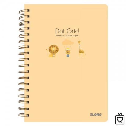 Sổ lò xo kép Dot Grid hoạt hình dễ thương B5-200trang