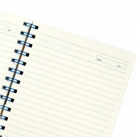 Sổ tay lò xo kép sọc ngang Planner A5-200 trang