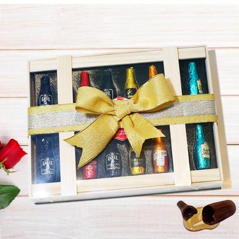 Socola rượu hộp gỗ Tình mãi đắm say Abtey Pháp 205g