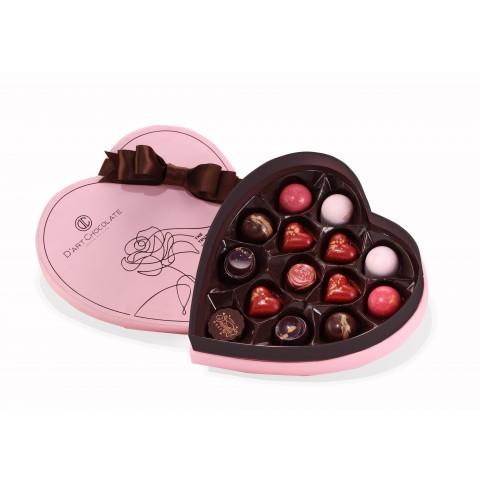 Socola Lời tỏ tình từ trái tim - Hộp tim 14 viên tươi