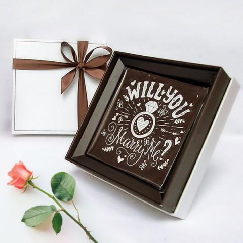 Socola Cầu hôn hộp quà 10x10cm