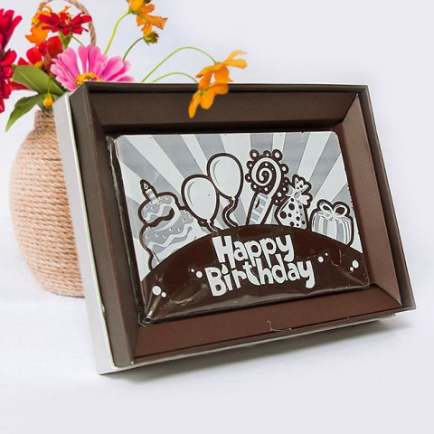 Socola Sinh nhật Nghệ Thuật hộp quà 10x15cm
