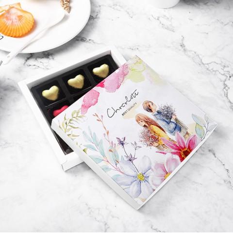 Quà tặng 8/3 Socola LuvChocolate Tình yêu màu nắng - Hộp 9 viên