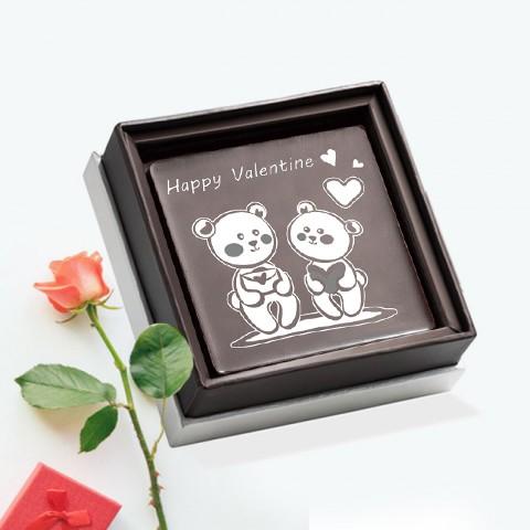 Socola Valentine Lễ Tình Nhân Ngọt Ngào - Hộp 1 viên 8x8cm