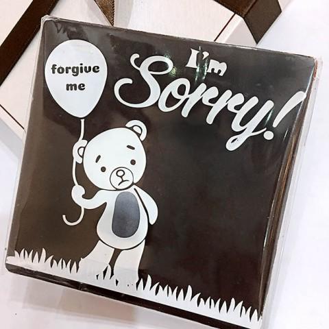 Socola Xin lỗi hộp quà 10 x10cm