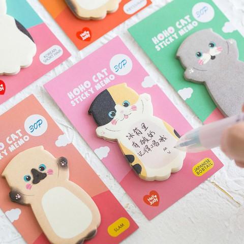 Tập 30 giấy note ghi chú hình Mèo