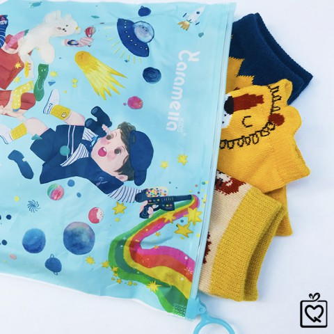 Tất trẻ em Baby Lion - Túi 3 đôi Caramella (3-5 tuổi)