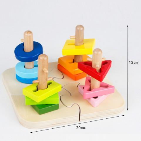 Đồ chơi gỗ thông minh thả hình ELC