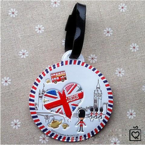 Thẻ đeo hành lý name tag London