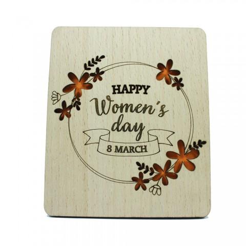 Thiệp gỗ handmade khung ảnh để bàn 8-3