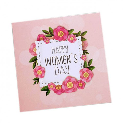 Thiệp chúc mừng tặng Phụ nữ vuông gấp- Happy Women's day