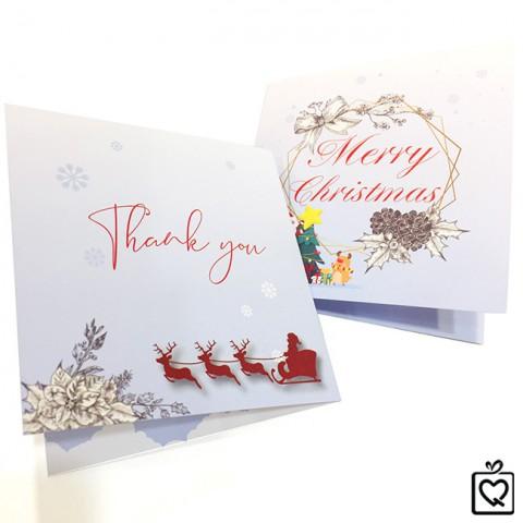 Thiệp Giáng Sinh Merry Christmas-Vuông gấp