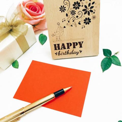 Thiệp gỗ sinh nhật để bàn