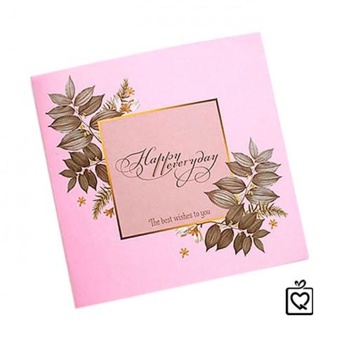 Thiệp vuông gấp Happy everyday