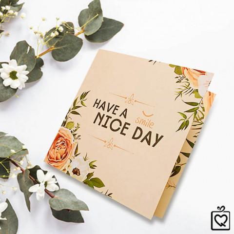 Thiệp vuông gấp Have a Nice day