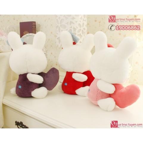 Thỏ bông ôm tim-tim-M