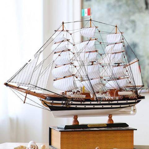 Mô hình thuyền gỗ Amerigo Vespucci 65cm FJ65B3