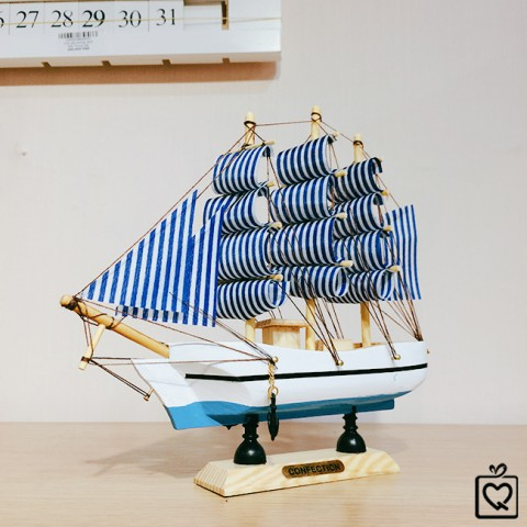 Mô hình thuyền hải quân 20cm