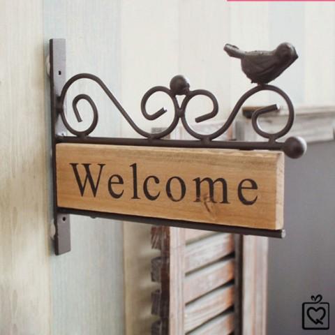 Biển trang trí tường Welcome
