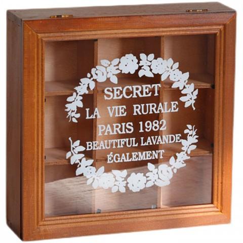 Tủ gỗ đựng đồ vintage 9 ngăn