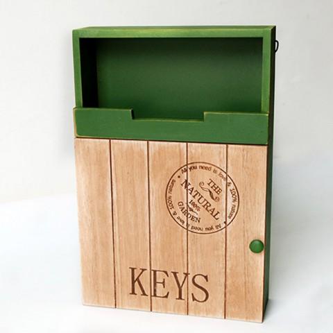 Tủ gỗ treo chìa khóa 2 tầng Retro