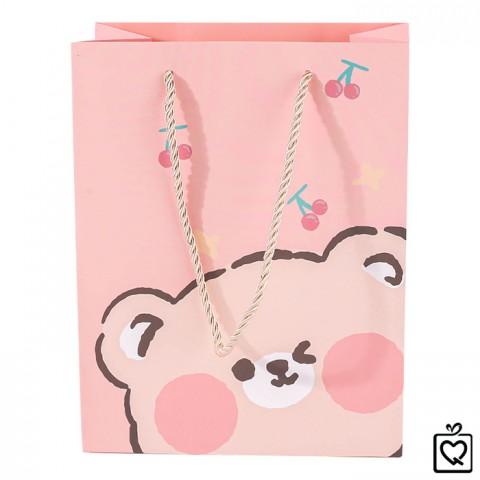 Túi giấy đựng quà gấu béo dễ thương
