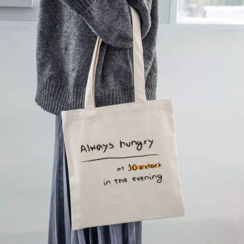 Túi Tote Always Hungry vải Canvas