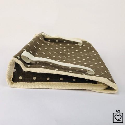 Túi vải đựng khăn giấy có thun cài trên ô tô