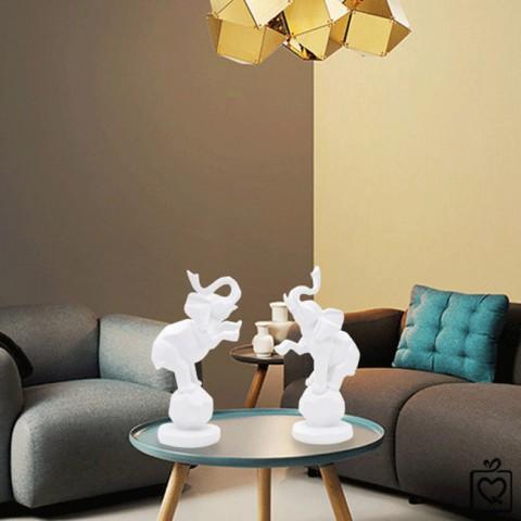 Tượng đôi voi nhựa nghệ thuật