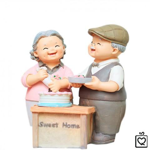 Tượng ông bà - làm bánh