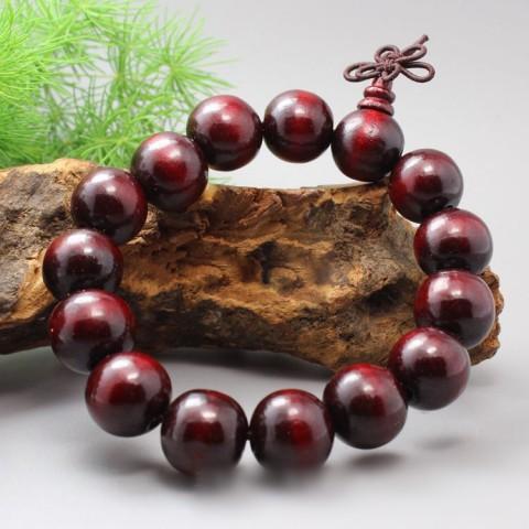 Vòng tay phong thủy gỗ đàn hương đỏ