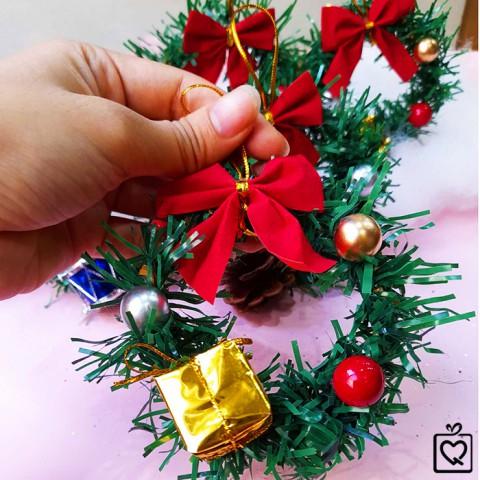 Vòng nguyệt quế Noel mini 7cm