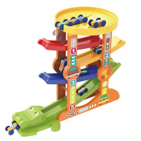 Đồ chơi xe cầu trượt 5 tầng