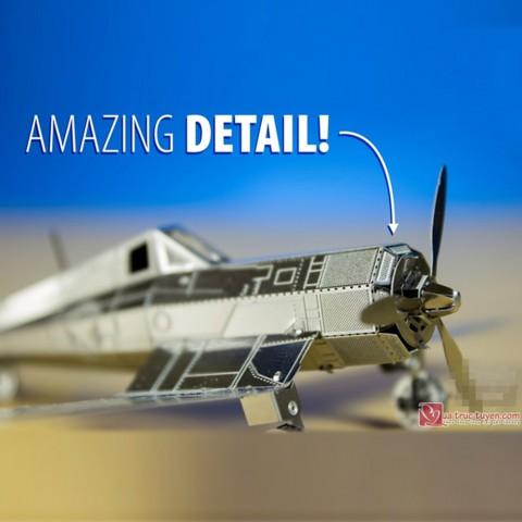 Xếp hình 3D máy bay kim loại