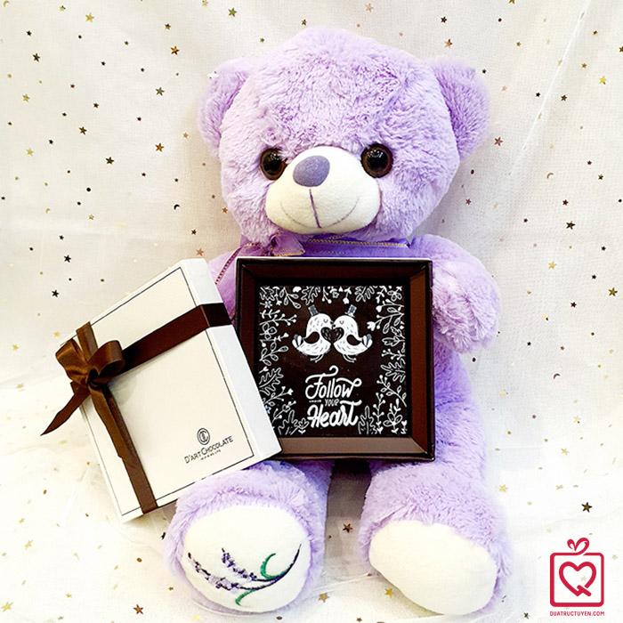 quà tặng Valentine Gấu Teddy & socola