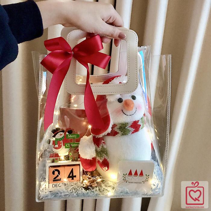 Quà Giáng Sinh LuvGift Snowman - Túi quà trong suốt