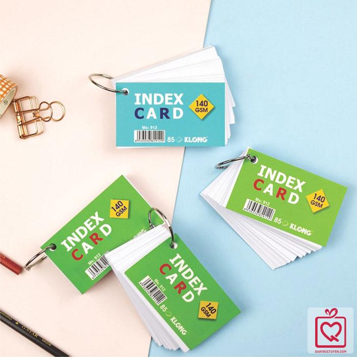 Tập thẻ Index Card A7- móc treo KLong -MS912